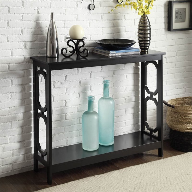 Convenience Concepts Omega Console Table in Black