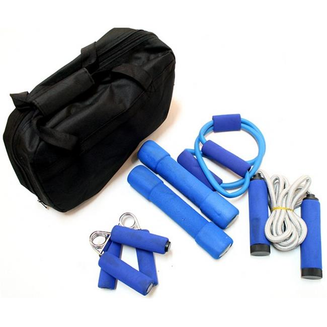 229 New Work Out Kit with Carrying Storage Case 4 Pc Set
