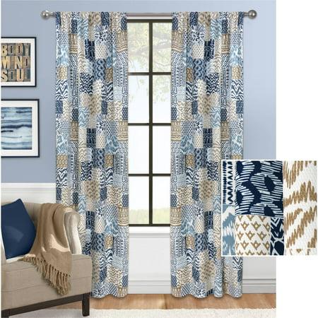 Mainstays Patchwork Fashion Window Curtain ()