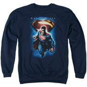 Man Of Steel Superman & Symbol Mens Crewneck Sweatshirt