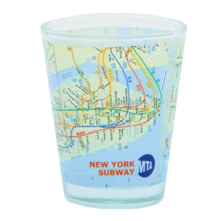 NYC MTA Subway Map Shot Glass (Best Nyc Mta App)