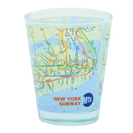 NYC MTA Subway Map Shot Glass (Cheap Glasses Nyc)