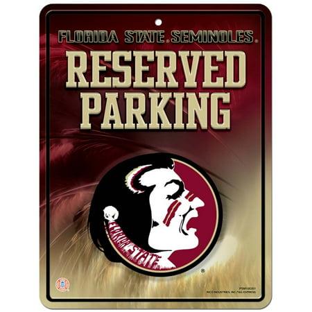 Florida State Seminoles Metal Parking Sign