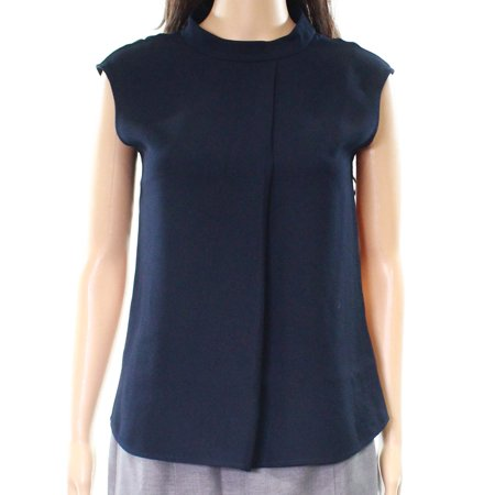 bad823aab7ba4d Ted Baker - Ted Baker NEW Blue Navy Women s Size 2 Mock-Neck Pleated ...