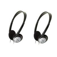 2 Pack Panasonic RP-HT21 Lightweight Headphones with XBS