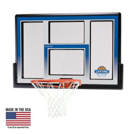 """Lifetime 48"""" Shatterproof backboard and Rim Basketball Combo, 73621"""