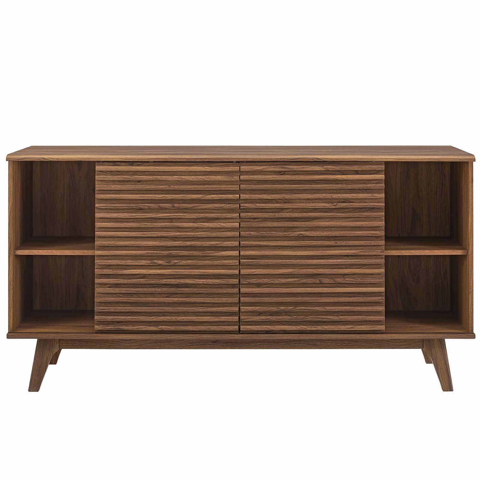 Render 63 Sideboard Buffet Table Or Tv Stand In Walnut Walmart Com Walmart Com