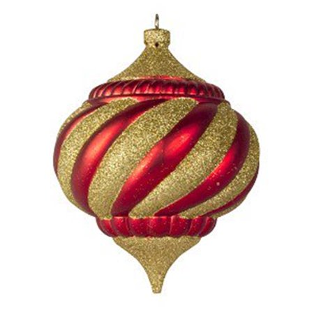 100 mm Onion Ornament Traditional Collection - Red & Gold