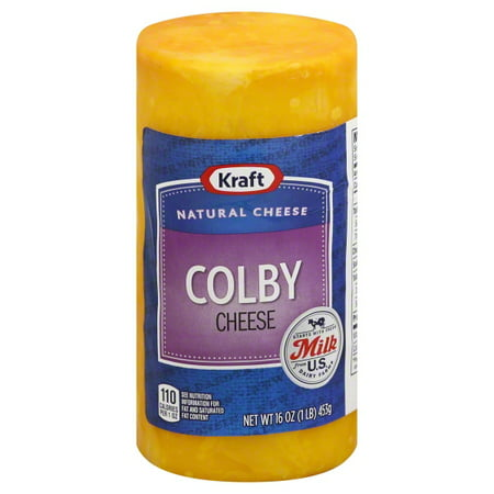 Kraft Natural Cheese Colby Longhorn Style Midget Chunk Cheese, 16 Oz