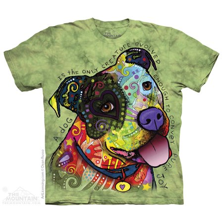 Grey Cotton Pure Joy Animal Message Novelty Adult T-Shirt -