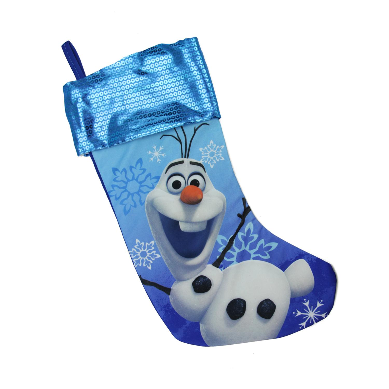 "17.5"" Blue Disney Frozen Olaf the Snowman Christmas Stocking"