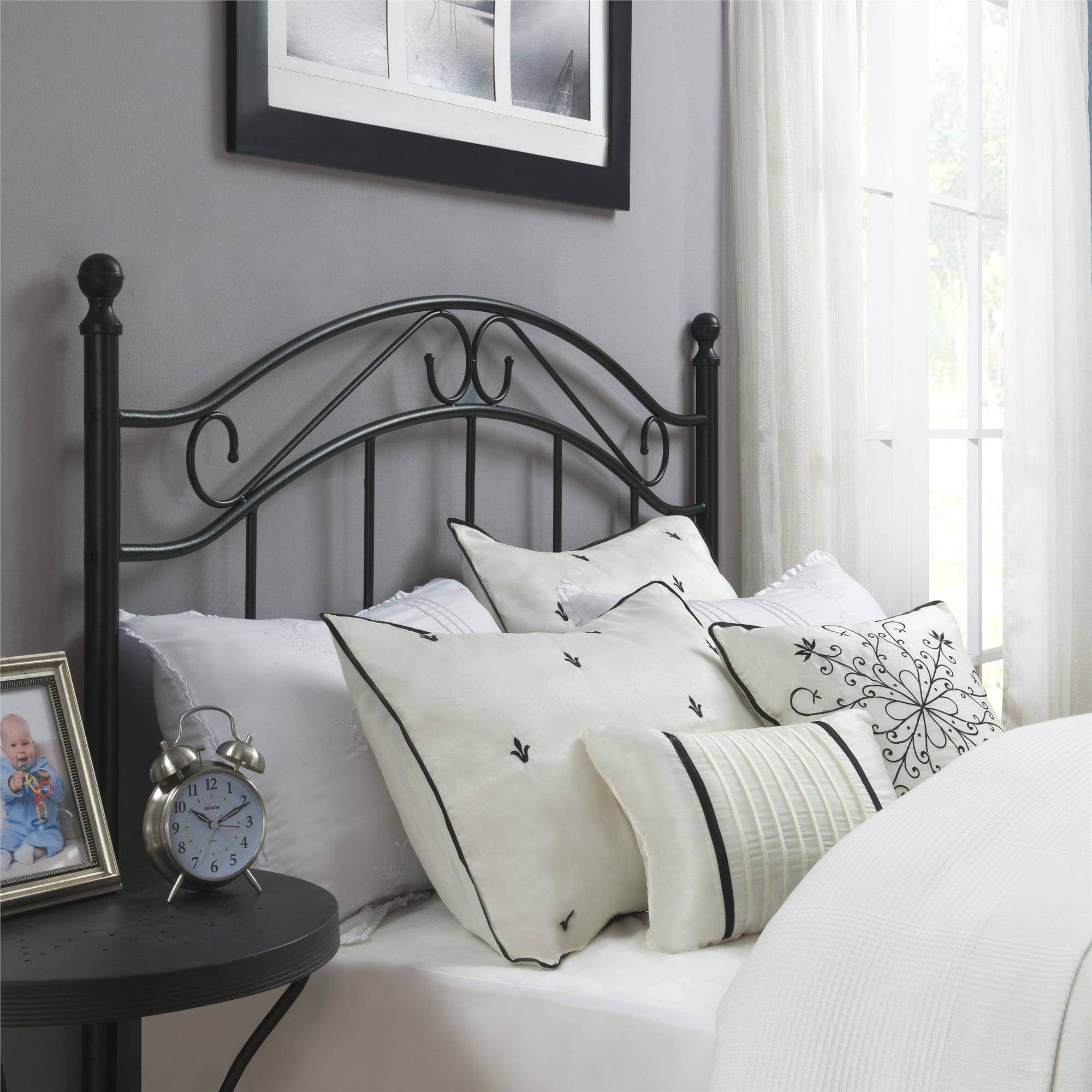 Metal Headboard Full Queen Powder