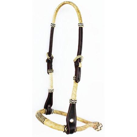 Horse Western CORE BOSAL HACKAMORE BITLESS BRIDLE HEADSTALL RAWHIDE MECATE  27903