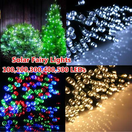17ft Night Light 50 LED Solar Power String Fairy Lights for Party Xmas Outdoor Garden Tree Christmas Decoration