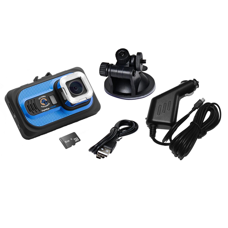 Top Dawg EagleEye 1080p DVR Dash Camera with G-Sensor and 8 GB SD Card