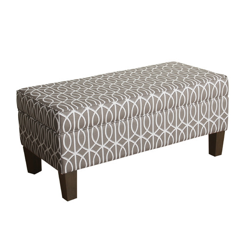 HomePop Finley Large Storage Bench, Multiple Colors