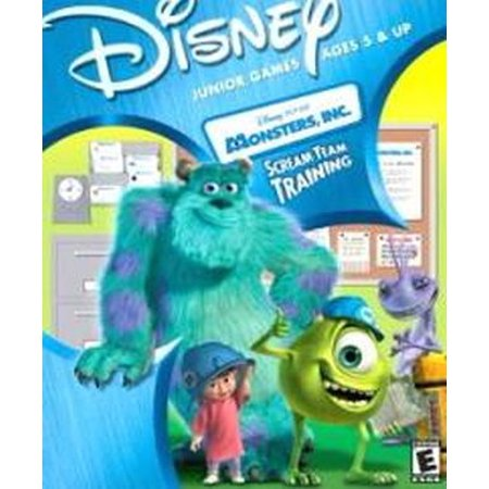 Disney Pixar Monsters Inc. Scream Team Training Computer Cd Rom Game