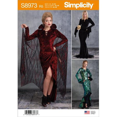 Simplicity US8973R5 Womens Halloween Costume, Size