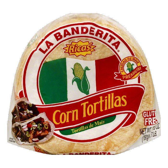 La Banderita Corn Tortillas, 27.5 OZ (Pack of 12)