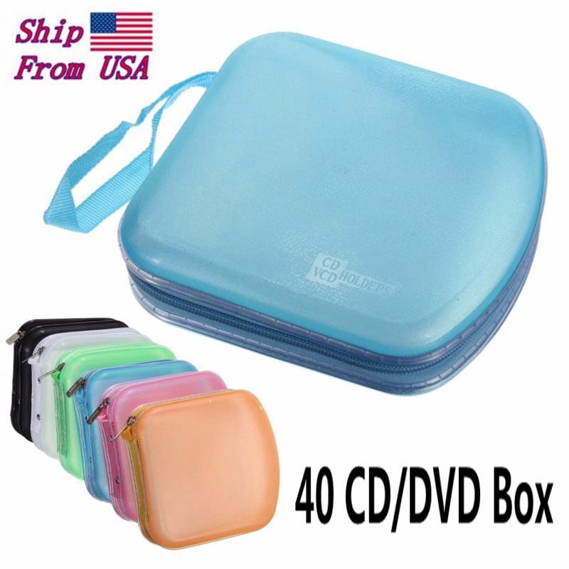 40 Disc CD VCD DVD Album Wallet Holder DJ Media Video Storage Case Bag Organizer