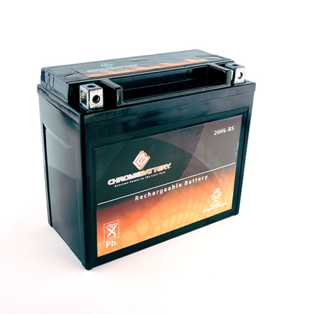 Chrome Battery M00004-10000 YTX20HL-BS High Performance Maintenance Free Sealed AGM Motorcycle Battery