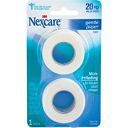 Nexcare Gentle Paper First Aid Tape, 1 in x 10 yds Carded (Carded, 2-Pack)