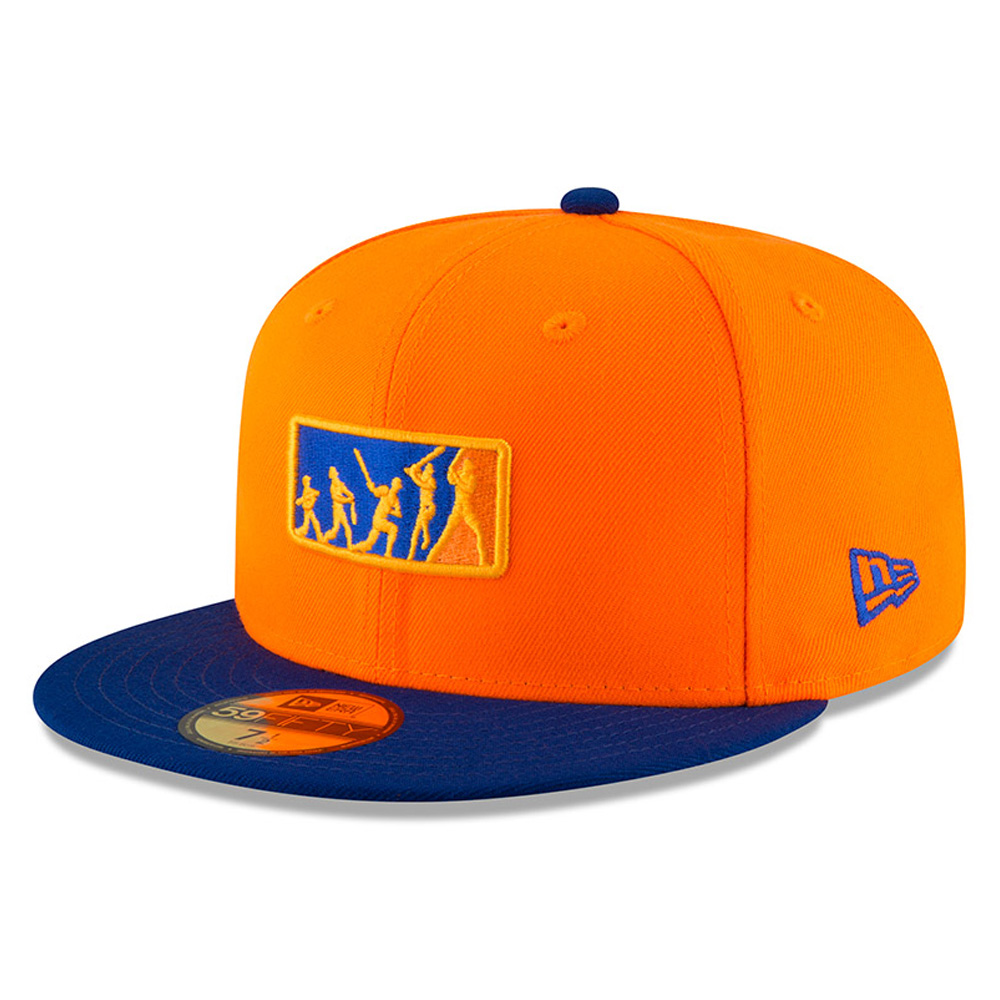 New York Mets New Era 2018 Players' Weekend Team Umpire 59FIFTY Fitted Hat - Orange/Royal