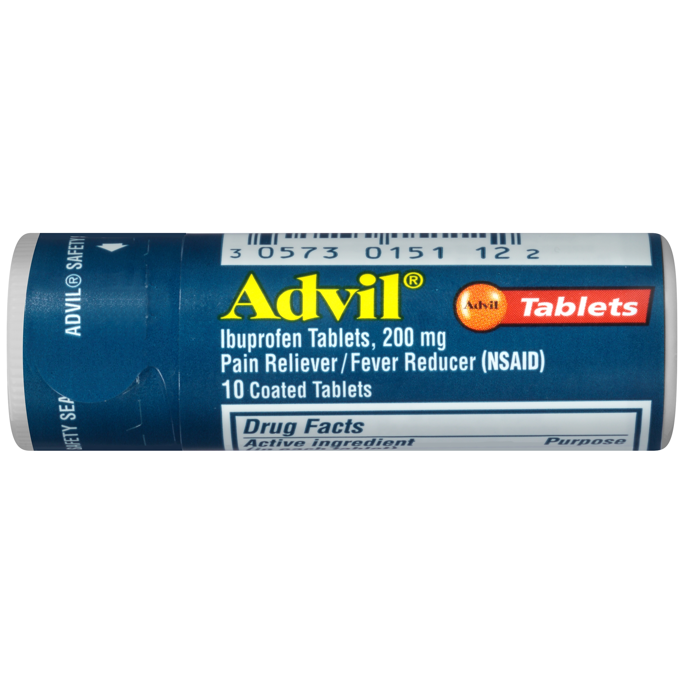 Advil Pain Reliever/Fever Reducer (NSAID) Coated Tablets, 10 count