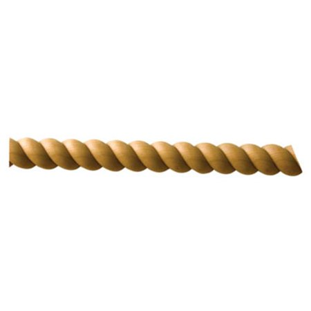 HD NPM0052OUF2 Split Rope Molding, Oak - 0.75 in.