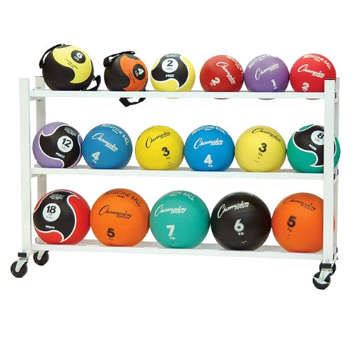 Champion Sports Cart for 20 Medicine Balls by Champion Sports