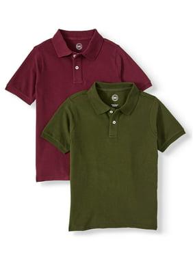 BCG Boys Short Sleeve Red Polo Shirt Uniform Size XS 6-7 Back to School Light