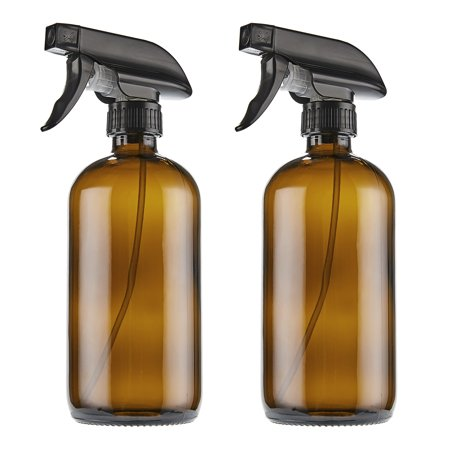 Spritzer Bottle (THETIS Homes 16oz Empty Amber Boston Spray Bottles with Trigger Sprayers, Caps and labels, Glass Bottles - 2)