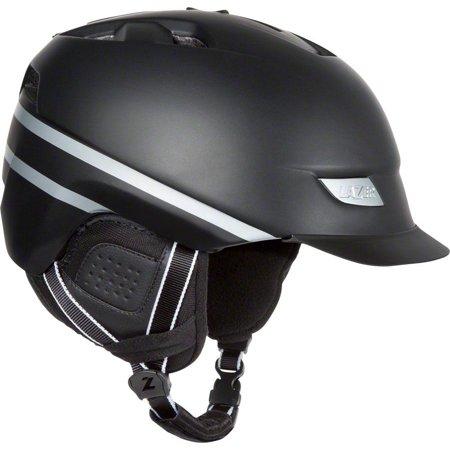Sol Helmet Mount - Lazer Dissent Winter Helmet with rear LED light and Multi-Mount: Black MD