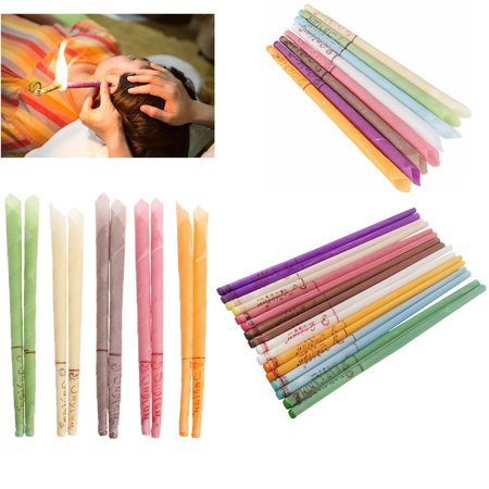 10 Pack Earwax Candles Hollow Blend Cones Beeswax Ear Cleaning Hearing Thai Massage best
