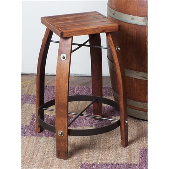 2 Day Designs 818w28 28 Inch Wine Barrel Stave Stool With
