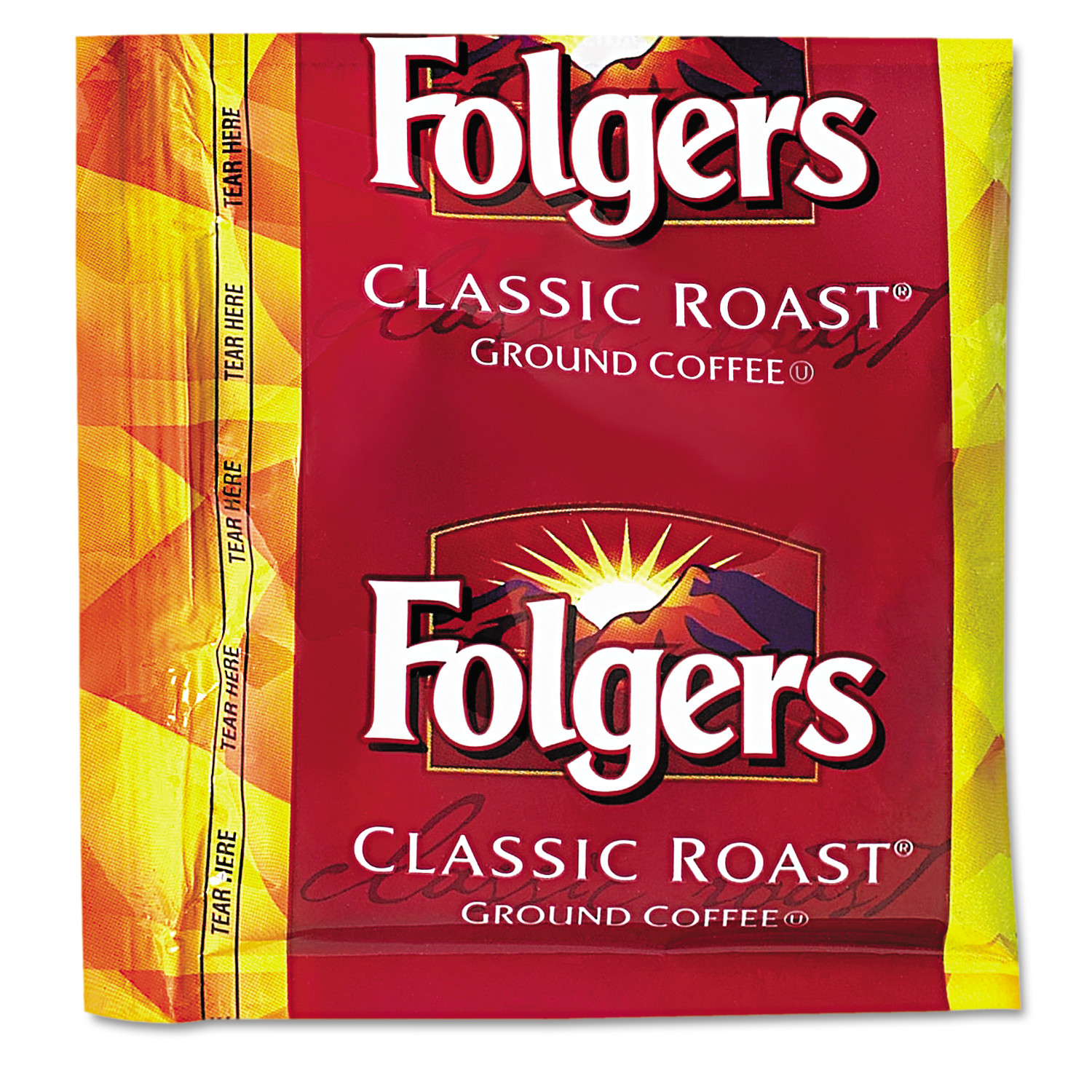 Folgers Coffee, Classic Roast, .9oz Fractional Packs, 36/Carton