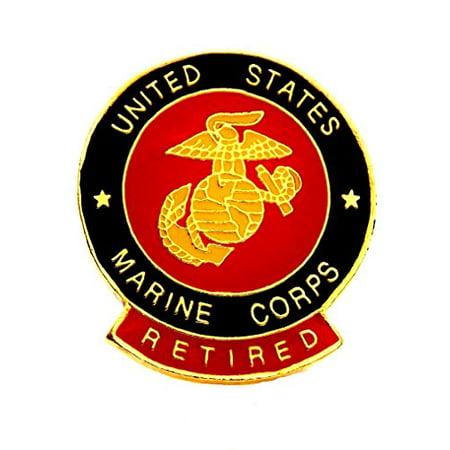 US Marines USMC Retired Marines Insignia EGA Lapel Hat Pin Military PPM016 (1 pin)