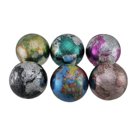 Set Of 400 Colorful Metallic World Globe Decorative Balls 40 Inch Beauteous Decorative Globe Balls