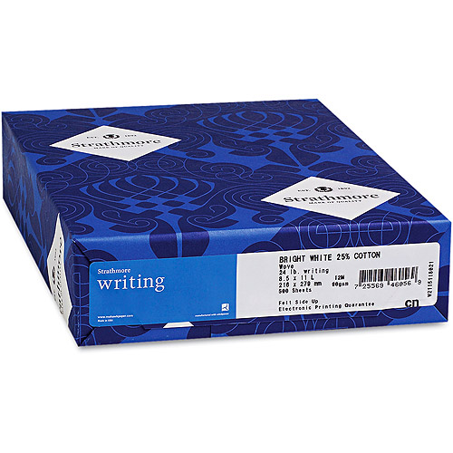 Strathmore 25 Percent Cotton Business Paper, Ultimate White, 500/Ream