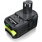 FLAGPOWER P108 18V 4.0AH Lithium Battery with Recharge Indicator for Ryobi 18 Volt ONE Tool P102 P103 P104 P1