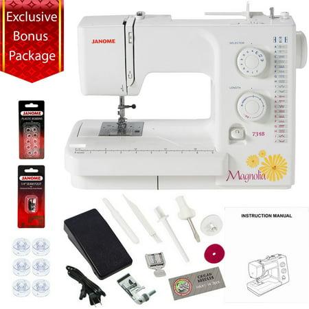 Janome Magnolia 40 Sewing Machine W Bonus Package Walmart Inspiration Janome Magnolia 7318 Sewing Machine