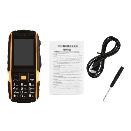 "2Pcs NO.1 A9 2.4"" Waterproof Mobile Cell Phone Shockproof Dual SIM Cards Alarm"