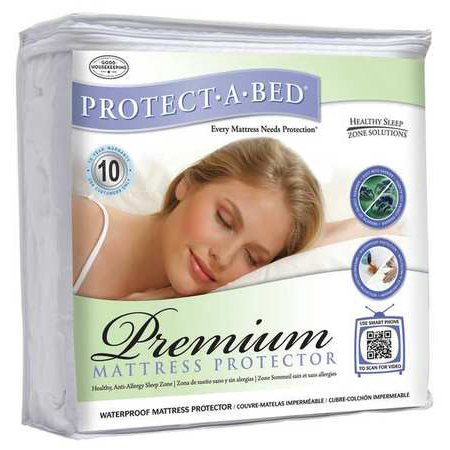 Protect A Bed P 0142 Mattress Pad  King  Terry Cotton  Pk8