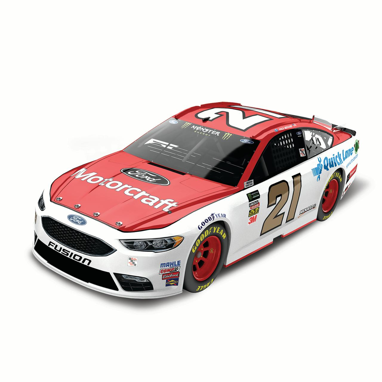 Paul Menard Action Racing 2018 #21 Ford Motorcraft 1:24 Monster Energy Nascar Cup Series... by Lionel LLC