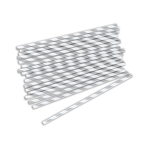 Weddingstar Sippers Candy Metallic Print Paper Straw (Set of 2) (Set of 75)