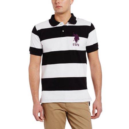 U.S. Polo Assn. Men's Striped Shirt, Black, Large