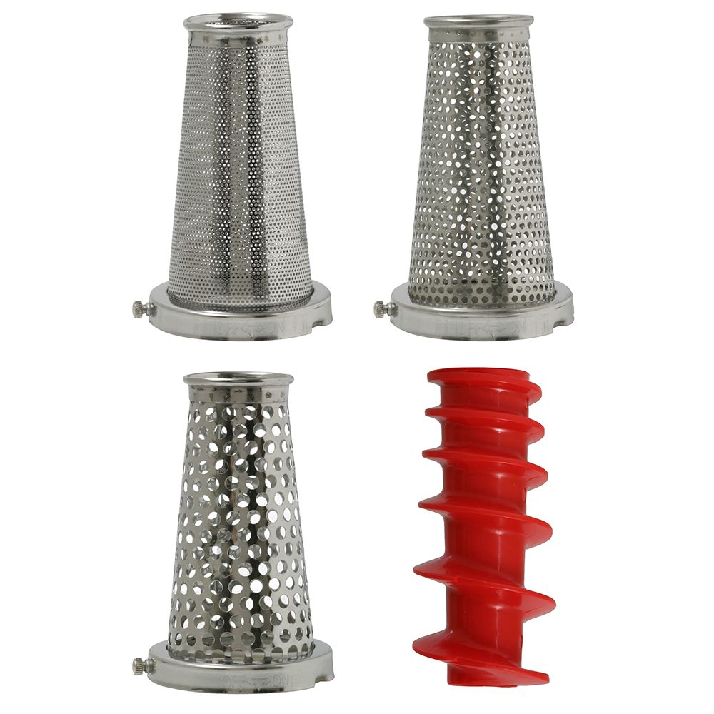 Four-Piece Accessory Pack for Victorio Model 250 Food Strainer VKP250-5