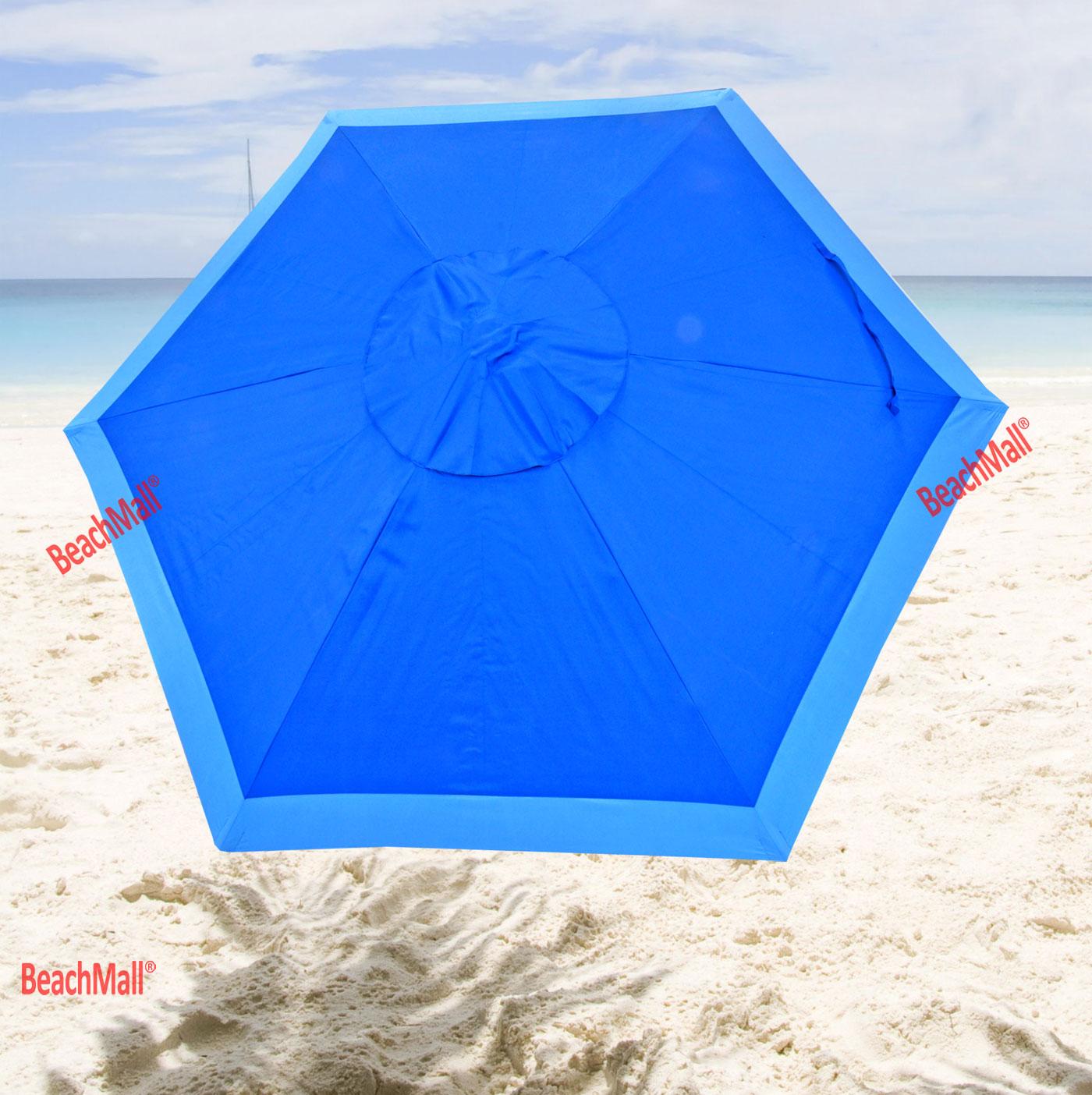 7 ft Deluxe Beach / Patio Umbrella UPF100 - Market Style