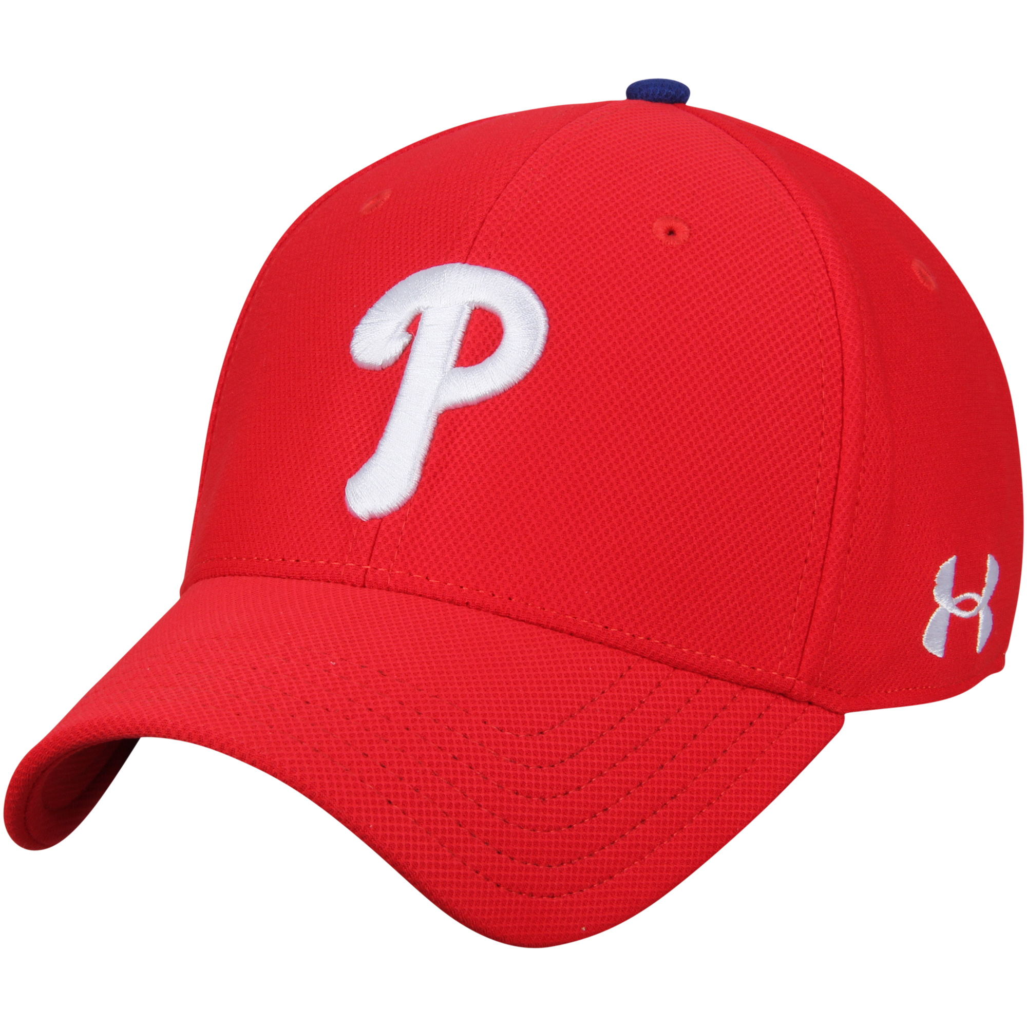 Philadelphia Phillies Under Armour Blitzing Performance Adjustable Hat - Red - OSFA