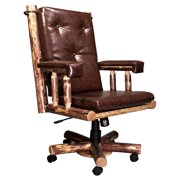 Montana Woodworks Glacier Country Upholstered Office Chair